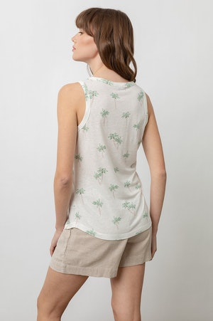 THE QUINN SCOOP TANK - SKETCHED PALMS by Rails - 3
