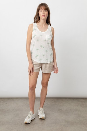 THE QUINN SCOOP TANK - SKETCHED PALMS by Rails - 4