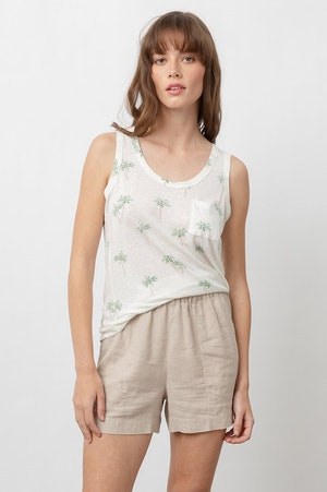 THE QUINN SCOOP TANK - SKETCHED PALMS by Rails - 5