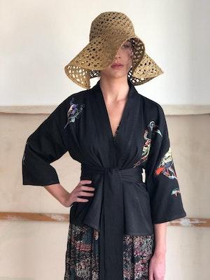 Kimono jacket Lovebirds embroidered by Tallulah & Hope - 5