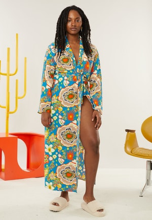 CaSa Robe in Blue Floral Print by Simon Miller - 1