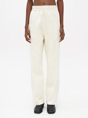 Pin Tuck Sweatpants White by Vaara - 1