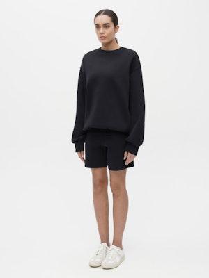 Unisex Short Sweatpant Black by Vaara - 2