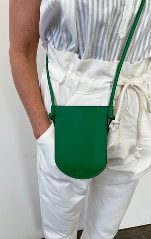 mini phone sling in Green by Two - 1