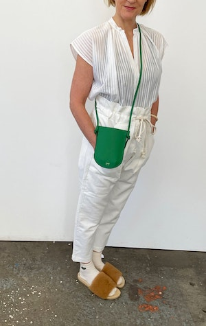 mini phone sling in Green by Two - 2