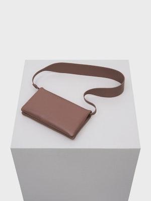 Fold Shoulder Bag Taupe by Vaara - 1