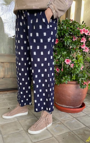 Ikat cotton wide leg pant by Two - 2