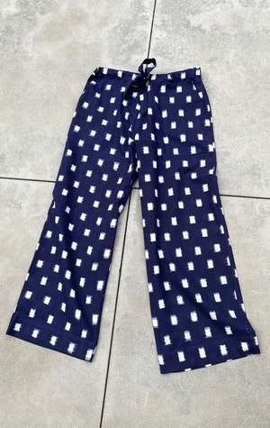 Ikat cotton wide leg pant by Two - 1