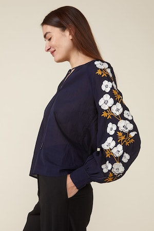RUTH TOP – NAVY by St. Roche - 4