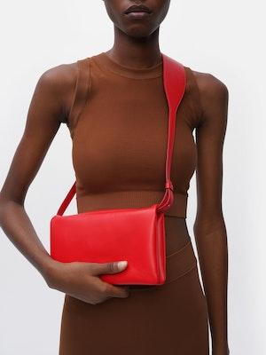 Fold Shoulder Bag Red by Vaara - 1