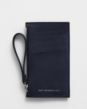 Adana Zipped Leather Cardholder by Want Les Essentiels - 1