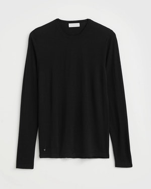 Agostino 2.0 Long Sleeve Wool Cashmere Blend Unisex T-Shirt by Want Les Essentiels - 1