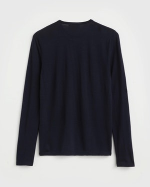Agostino 2.0 Long Sleeve Wool Cashmere Blend Unisex T-Shirt by Want Les Essentiels - 2