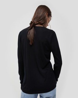 Agostino 2.0 Long Sleeve Wool Cashmere Blend Unisex T-Shirt by Want Les Essentiels - 3