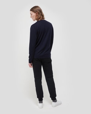 Agostino 2.0 Long Sleeve Wool Cashmere Blend Unisex T-Shirt by Want Les Essentiels - 4