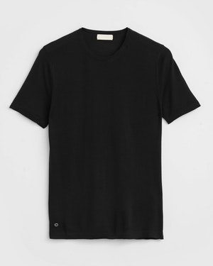 Agostino 2.0 Short Sleeve Wool Cashmere Blend Unisex T-Shirt by Want Les Essentiels - 1