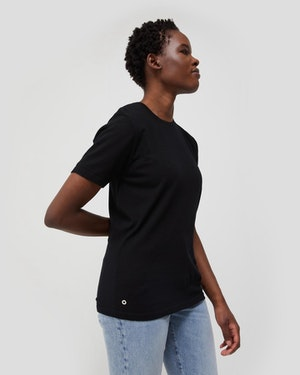 Agostino 2.0 Short Sleeve Wool Cashmere Blend Unisex T-Shirt by Want Les Essentiels - 4