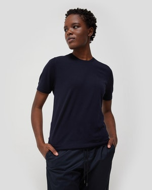 Agostino 2.0 Short Sleeve Wool Cashmere Blend Unisex T-Shirt by Want Les Essentiels - 2