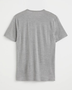Agostino 2.0 Short Sleeve Wool Cashmere Blend Unisex T-Shirt by Want Les Essentiels - 3
