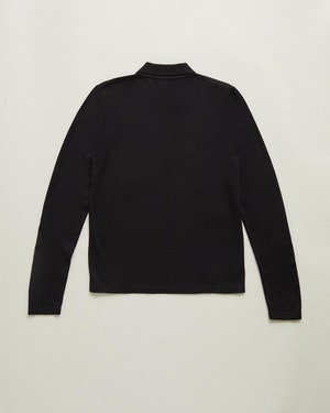 Loreto 2.0 Long Sleeve Wool & Cashmere Unisex Polo Shirt by Want Les Essentiels - 3