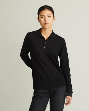 Loreto 2.0 Long Sleeve Wool & Cashmere Unisex Polo Shirt by Want Les Essentiels - 2