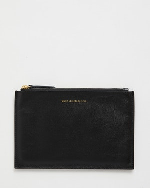 Lawrence Leather Zip Pouch by Want Les Essentiels - 1