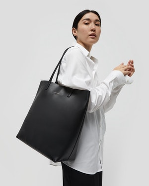 Logan Leather Vertical Tote by Want Les Essentiels - 3