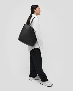 Logan Leather Vertical Tote by Want Les Essentiels - 4