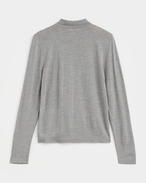 Loreto 2.0 Long Sleeve Wool & Cashmere Unisex Polo Shirt by Want Les Essentiels - 4