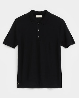 Loreto 2.0 Short Sleeve Wool and Cashmere Unisex Polo Shirt by Want Les Essentiels - 1