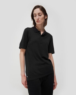 Loreto 2.0 Short Sleeve Wool and Cashmere Unisex Polo Shirt by Want Les Essentiels - 2