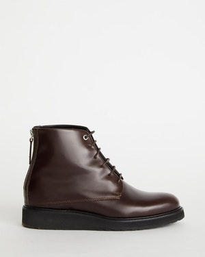 Menara High Wedge Leather Derby Boot by Want Les Essentiels - 1