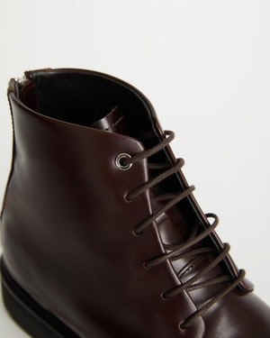 Menara High Wedge Leather Derby Boot by Want Les Essentiels - 5