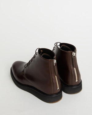 Menara High Wedge Leather Derby Boot by Want Les Essentiels - 3