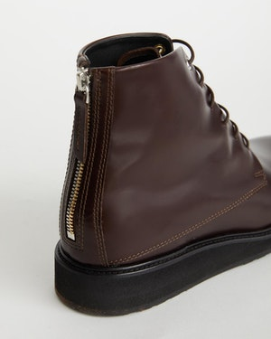 Menara High Wedge Leather Derby Boot by Want Les Essentiels - 4