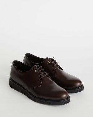 Menara Leather Wedge Derby Shoe by Want Les Essentiels - 2