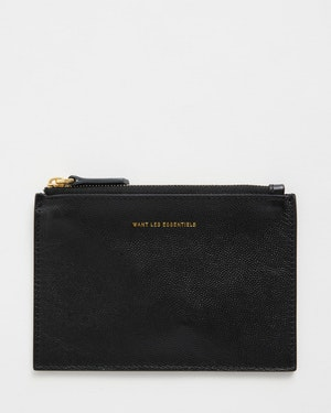 Mini Lawrence Leather Zip Pouch by Want Les Essentiels - 1