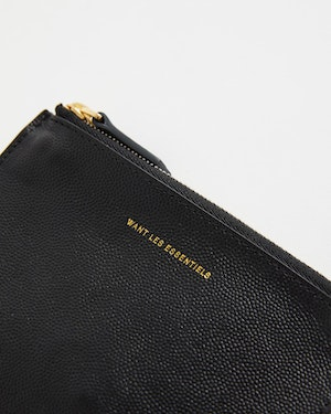 Mini Lawrence Leather Zip Pouch by Want Les Essentiels - 4