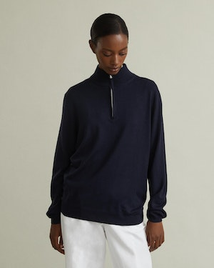 Trento Wool and Cashmere Unisex Half-Zip Pullover Sweater by Want Les Essentiels - 2