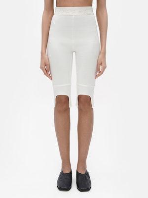 Everyday Knee Length Legging White by Vaara - 1