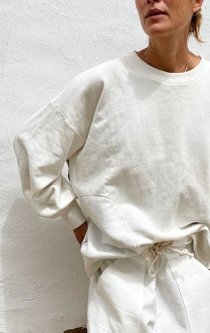 Our white Fab Cotton Sweatshirt by Two - 1