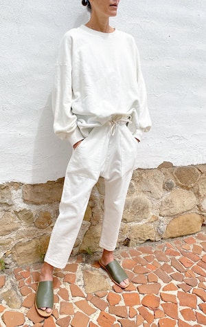 Our white Fab Cotton Sweatshirt by Two - 3
