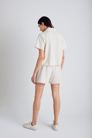 Natural Selvedge Scrunch Shorts by Still Here - 4