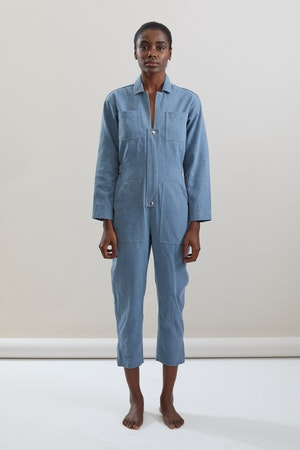 Selma Jumpsuit in Cadet by Still Here - 1