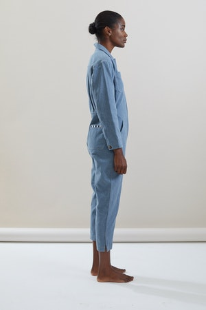 Selma Jumpsuit in Cadet by Still Here - 3