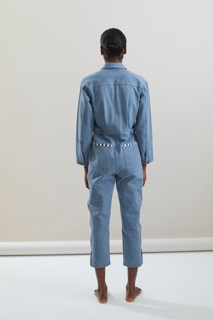Selma Jumpsuit in Cadet by Still Here - 2