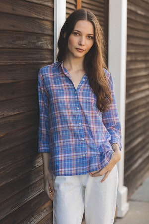 Grace Classic Shirt MONTAUK PLAID by Trovata - 1