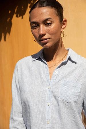 Grace Classic Shirt SALTAIRE STRIPE by Trovata - 3