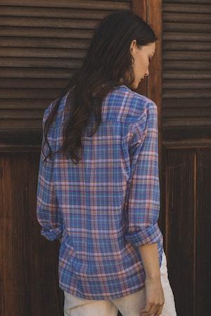 Grace Classic Shirt MONTAUK PLAID by Trovata - 4