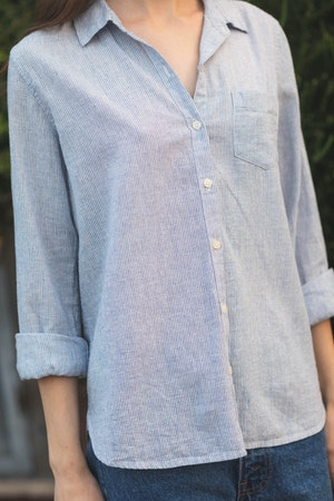 Grace Classic Shirt SALTAIRE STRIPE by Trovata - 2